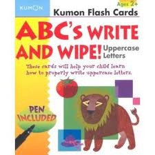 Kumon Flash Cards - ABC's write and wipe uppercase letters